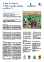 Policy for Equity in African Agriculture – Afrint IV poster, ILA May 2019